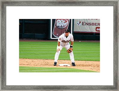 Biggio At Second Framed Print by Teresa Blanton