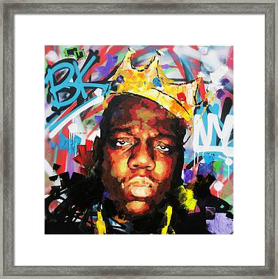Biggy Smalls IIi Framed Print by Richard Day