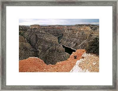 Bighorn Canyon Framed Print by Larry Ricker