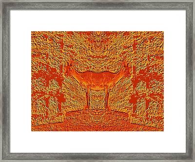 Bighorn Indecision Framed Print