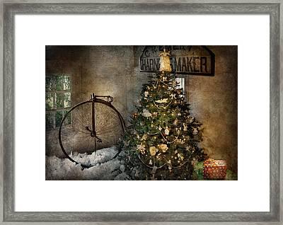 Bike - I Wanna Bike For Christmas  Framed Print