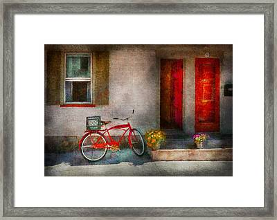 Bike - Welcome Doors Open  Framed Print