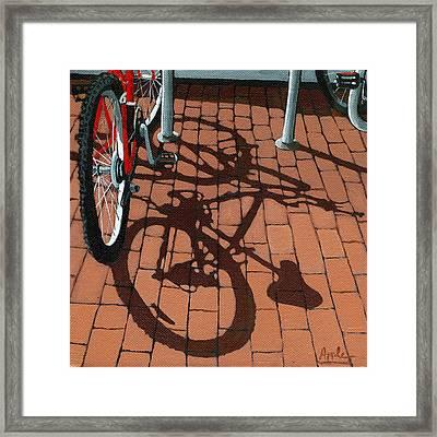 Bike And Bricks  Framed Print