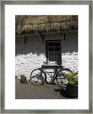 Bike At The Window County Clare Ireland Framed Print by Teresa Mucha