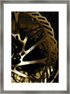 Bike Brake Framed Print by Angie Wingerd