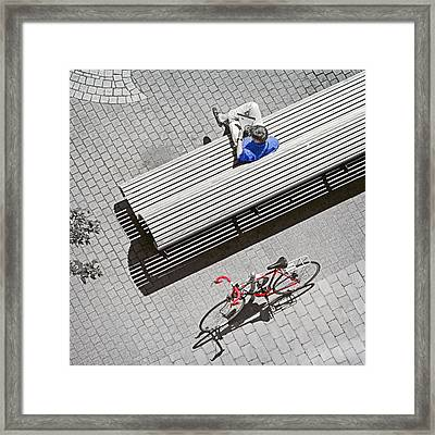 Framed Print featuring the photograph Bike Break by Keith Armstrong