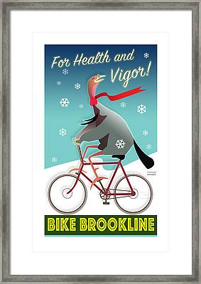 Bike Brookline Framed Print