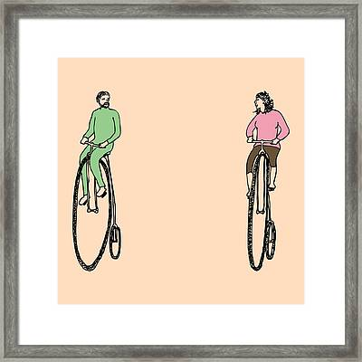 Bike Buddies Framed Print by Karl Addison