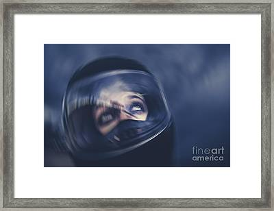 Bike Crash Framed Print