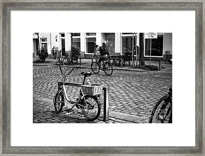 Bike Day In Hamburg Mono Framed Print