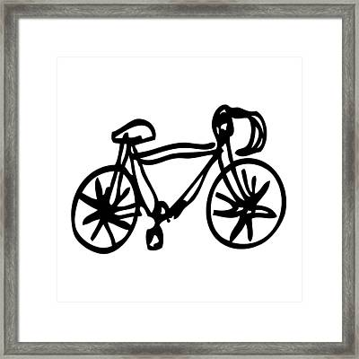 Bike Drawing Framed Print by Karl Addison