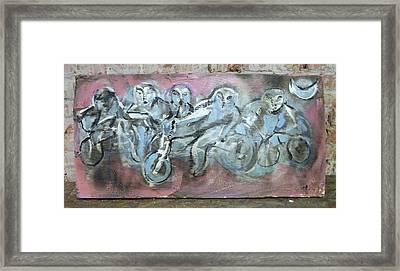 Bike Gang Framed Print by Dean Cercone