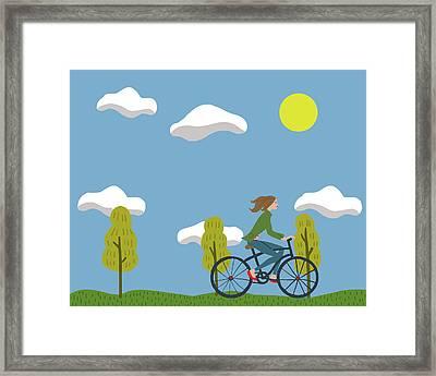Bike Girl Framed Print