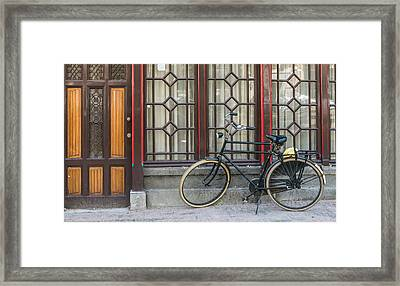 Bike In Amsterdam Framed Print