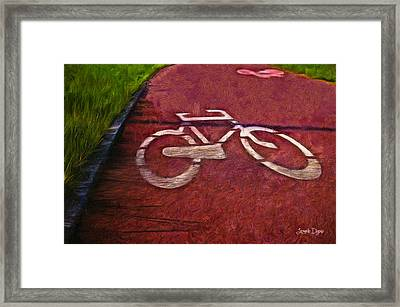 Bike Lane - Da Framed Print by Leonardo Digenio