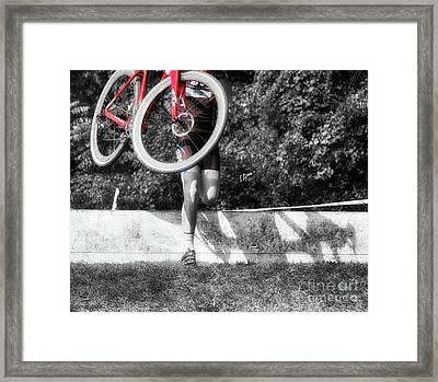 Bike Lifting  Framed Print by Steven Digman