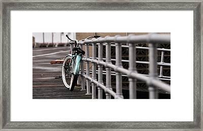 Bike On Boardwalk  Framed Print