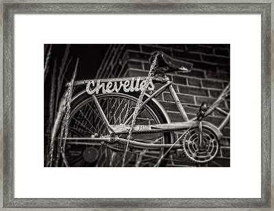 Framed Print featuring the photograph Bike Over Chevelles by Greg Mimbs