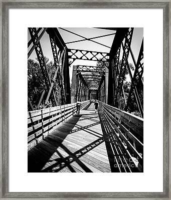 Bike Path Bridge Framed Print by JMerrickMedia
