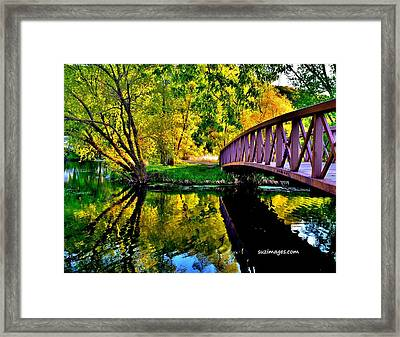 Bike Path Bridge Framed Print