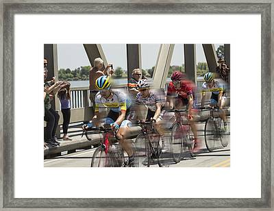Bike Race Framed Print