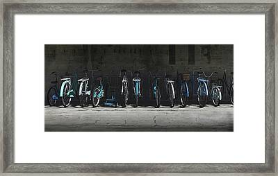 Bike Rack Blues Framed Print