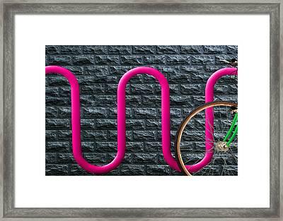 Bike Rack Framed Print by Paul Wear
