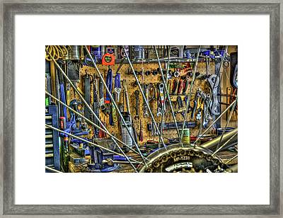 Bike Repair Shop Framed Print