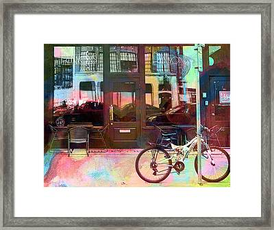 Framed Print featuring the digital art Bike Ride To Runyons by Susan Stone