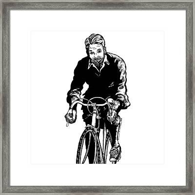 Bike Rider Framed Print by Karl Addison