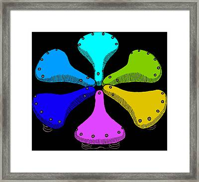 Bike Saddle Color Theory Framed Print by Karl Addison