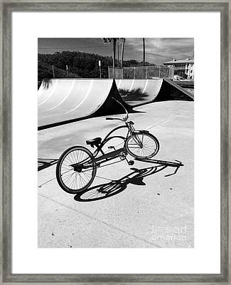 Bike Shadow Framed Print by WaLdEmAr BoRrErO