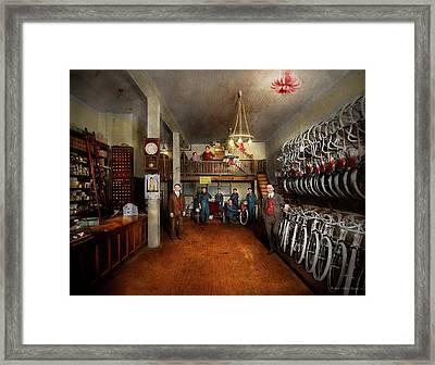 Bike - Store - Haverford Cycles 1919 Framed Print