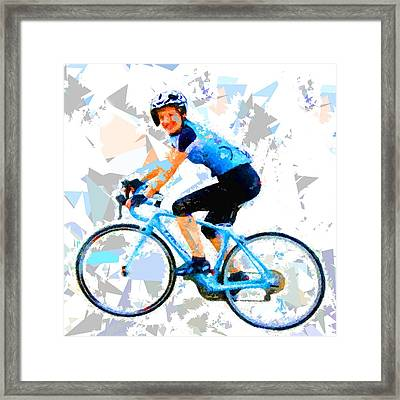 Framed Print featuring the painting Biker 1 by Movie Poster Prints