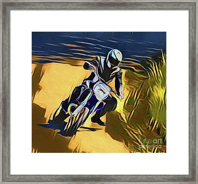 Biker 21018 Framed Print