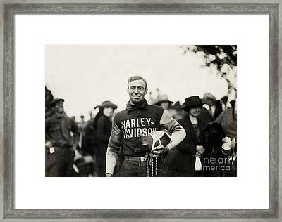 Harley Davidson Mascot Framed Print