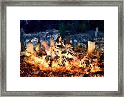 Biker Chick Framed Print by Tom Straub