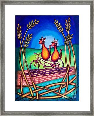 Biker Kats Framed Print