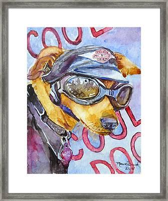 Biker Weiner Framed Print by P Maure Bausch