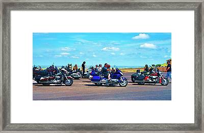 Bikers Sunday Ride Framed Print