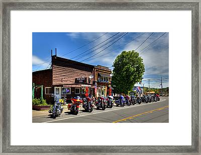 Bikes And Brews - 2017 Framed Print