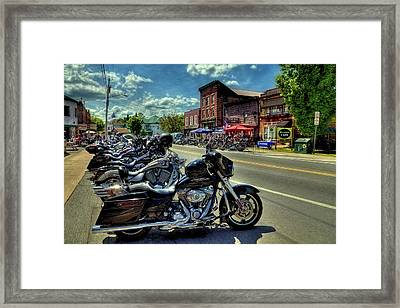 Bikes And Brews - Old Forge Ny Framed Print