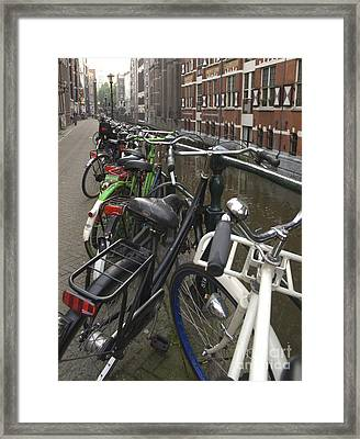 Bikes As Far As The Eye Can See Framed Print by Andy Smy