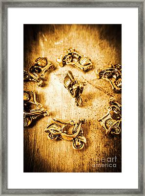 Bikes From Antique Italy Framed Print by Jorgo Photography - Wall Art Gallery