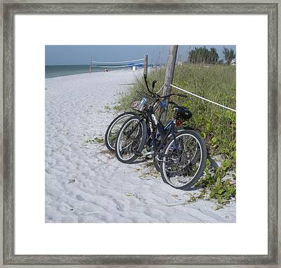Bikes On The Beach Framed Print