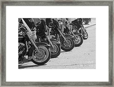 Bikes On The Line Framed Print by Yumi Johnson