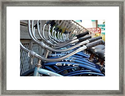 Bikes Framed Print by Steven Scott