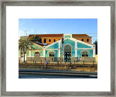 Biking In Lisboa Framed Print