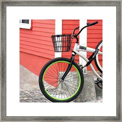 Biking Marina Del Rey Framed Print by Art Block Collections
