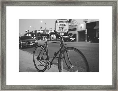 Biking Melrose Framed Print by Kyle Morris